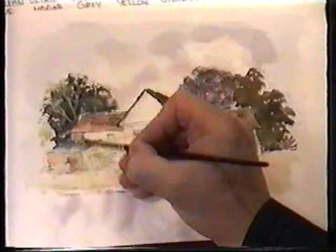 Painting Farms and Old Barns in Watercolour, Tutorial with Martin Goode www.martingoode.com