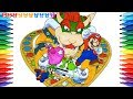 How to Draw Super Mario Party, Mario #254 | Drawing Coloring Pages Videos for Kids