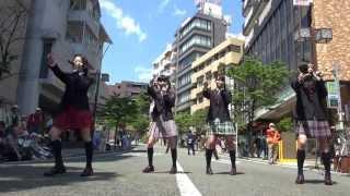 【KAGAJO☆4S 14】らぶたん/JUMP!@2013-4-28 第39回「野毛大道芸」 リハ...