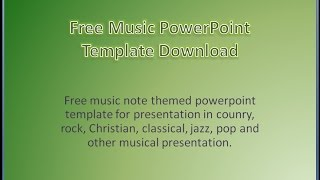 Gambar cover Free Music PowerPoint Templates Download Background Presentation