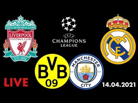 Ливерпуль Реал Мадрид / Боруссия Манчестер Сити / Лига Чемпионов / Смотрю матч / 14.04.2021