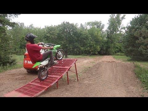 PIT BIKE RAMP SHENANIGANS | Hill Climbs, Wheelies and Racing