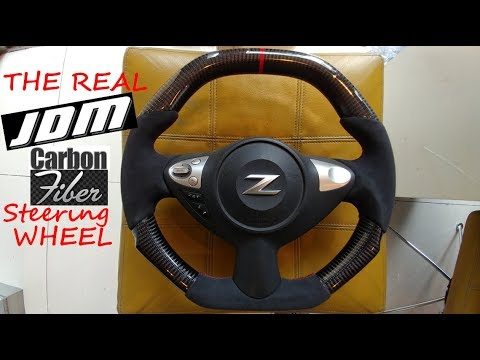 nissan 370z maxima and juke carbon fiber steering wheel jdm youtube nissan 370z maxima and juke carbon fiber steering wheel jdm