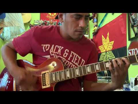Merah Def Gab C - Full Song Guitar Cover + Solo Slow Motion
