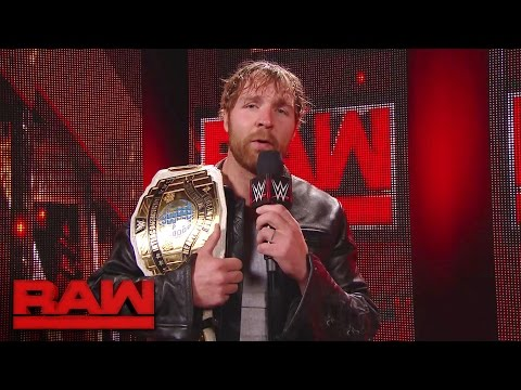 Dean Ambrose gets the scoop backstage: Raw, May 1, 2017