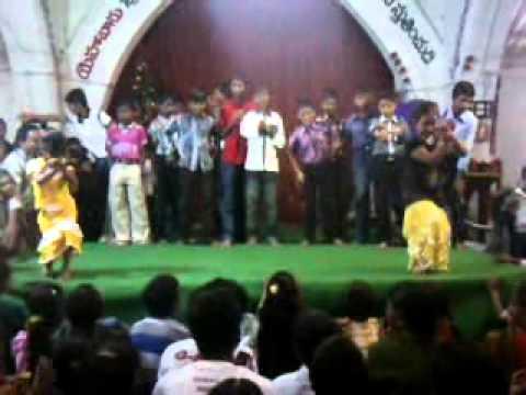 telugu christamas dance chudu chudu tammuda.lutheranch church parvathipuram