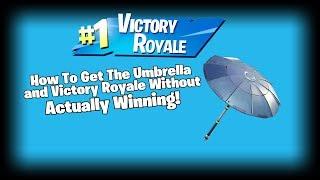 Comment obtenir le parapluie et la victoire Royale sans réellement gagner! (Fortnite Glitch)
