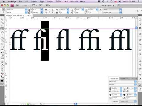 When Ligatures Are A Turnoff In InDesign.