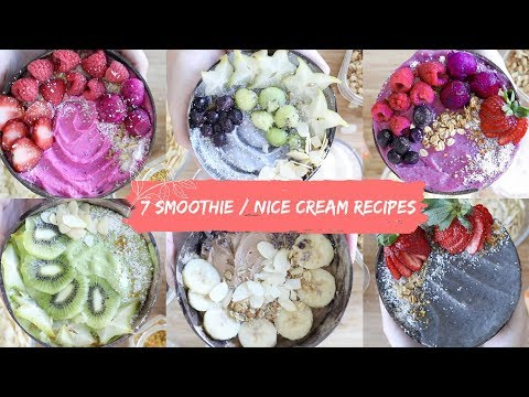 7 Smoothie / Nice Cream Bowl Recipes For Everyday of the Week!