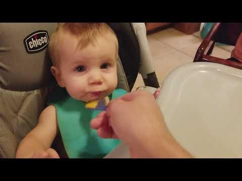 Mackenzie feeds Mason