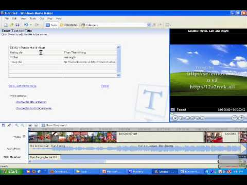 Hướng dẫn Windows Movie Maker part 3