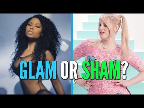 Nicki Minaj's Lacy Lingerie Vs. Meghan Trainor's Cat Dress: Glam Or Sham?