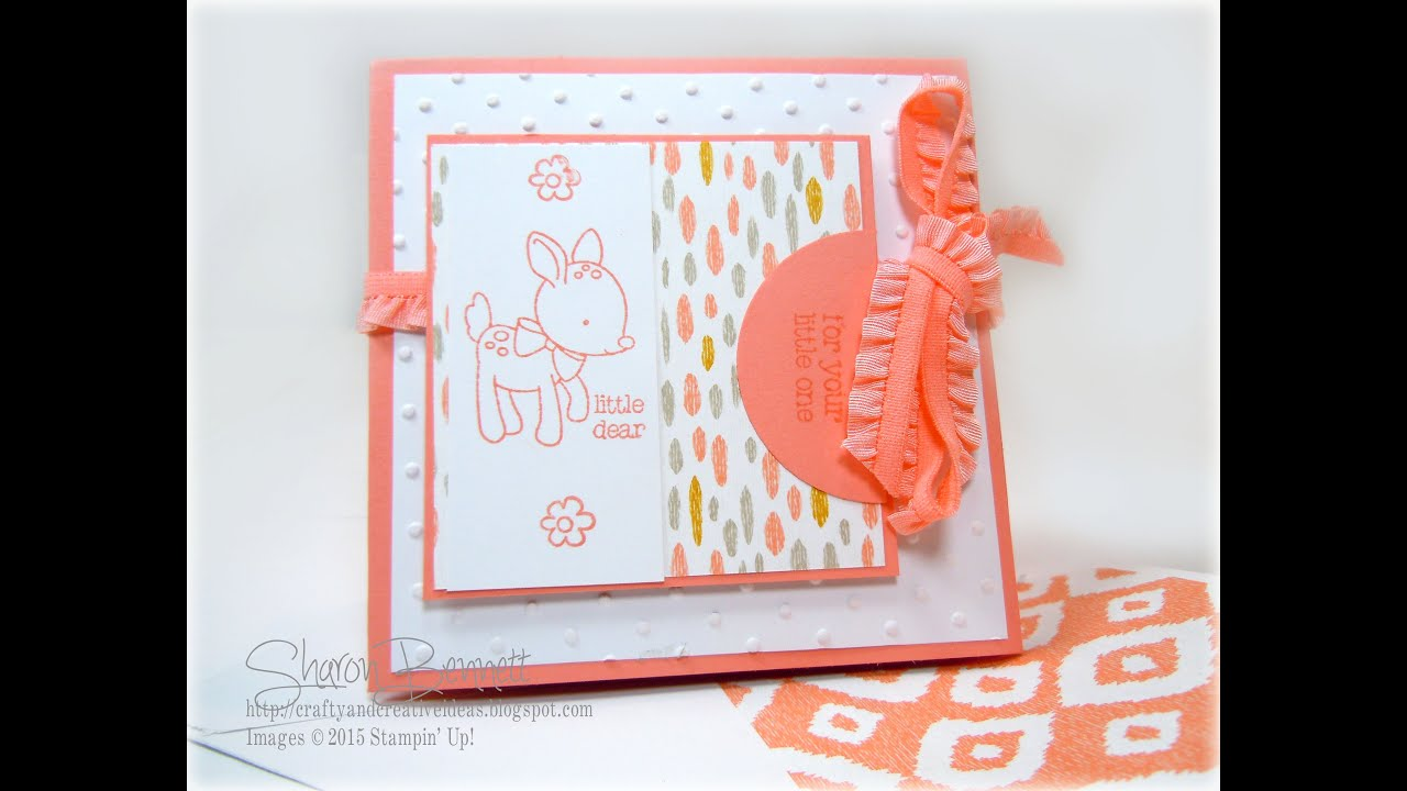 Stampin Up - Amazing Fold Card - Baby Card - YouTube