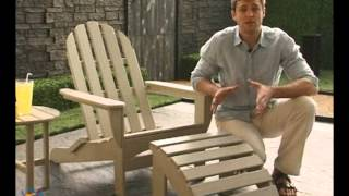 Polywood® Recycled Plastic Curveback Adirondack Chair Set - Product Review Video