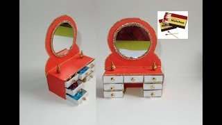 Dressing Table Made by Match boxes