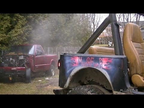 MudRFunR Jeep YJ 4.0L Cold Start - Blown Rad Hose