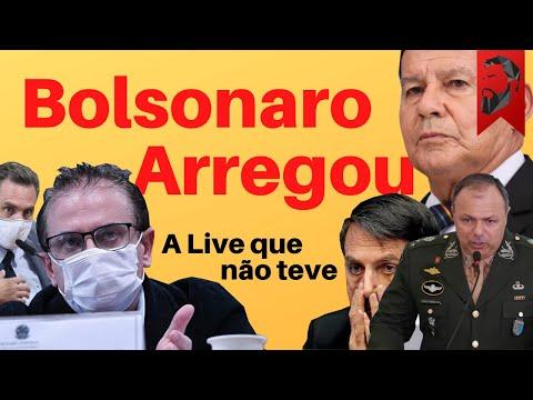 BOLSONARO ARREGOU: PRESSÃO NO TETO, JAIR AMEAÇA NÃO PARTICIPAR DAS ELEIÇÕES - LIVE QUE NÃO TEVE