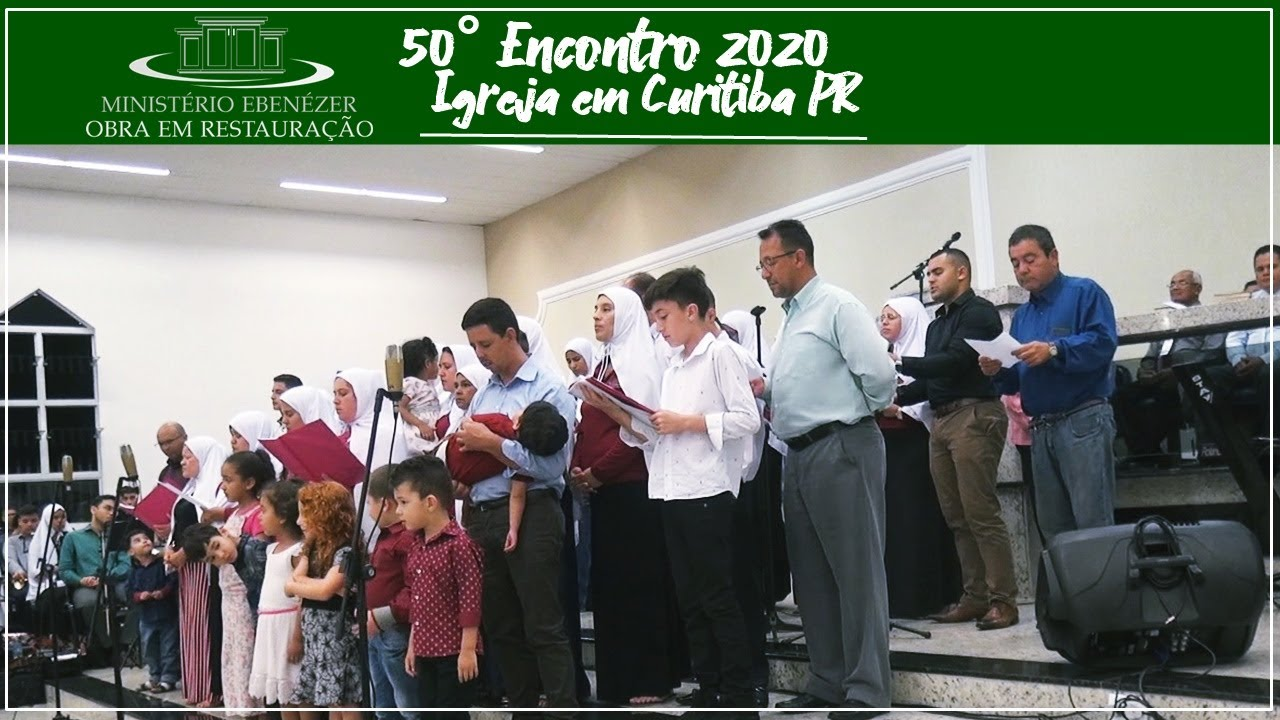 50� Encontro/ Retiro Espiritual 2020 - Igreja em Curitiba PR louvando a Deus.