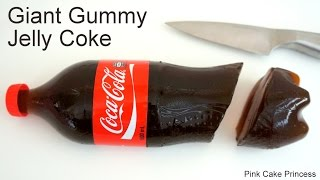 Coke Jelly Bottle - How to Make a Giant Gummy Coke Bottle for April Fool