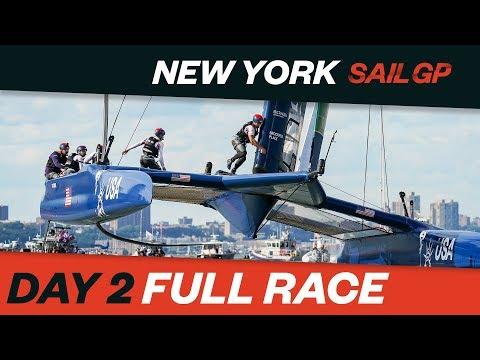 FULL RACE REPLAY // 2019 New York SailGP // Day 2 // Races 4-6 // 22 June 2019