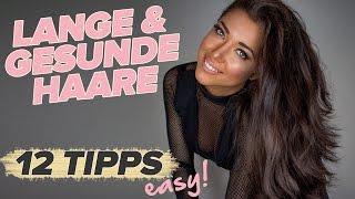 LANGE + GESUNDE Haare! 12 EINFACHE Tipps