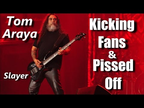 Slayer Tom Araya Kicking Fans and Pissed Off | RockStar FAIL