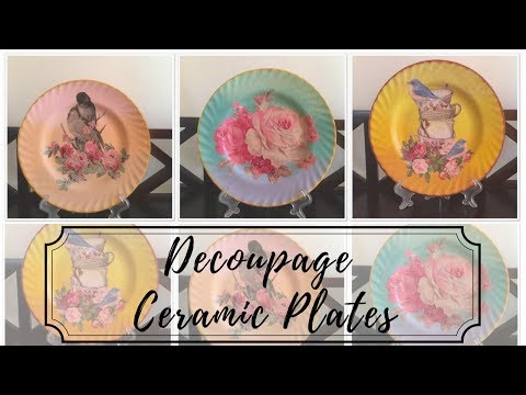 DIY - Decoupage on Ceramic Plates!!
