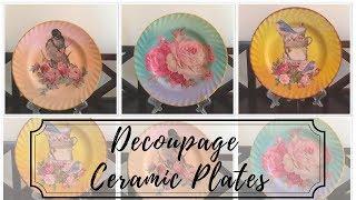 DIY - Decoupage on Ceramic Plates