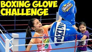 Repeat youtube video Boxing Glove Challenge Shopkins Season 5 Yummy Food | Blind Bag Monday Ep58