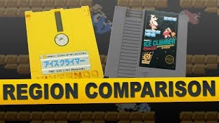 Ice Climber for NES (Region Comparison)