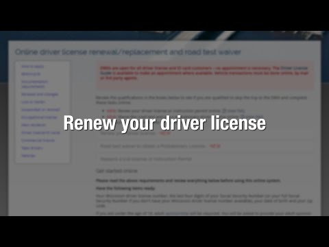 How to renew your driver license online