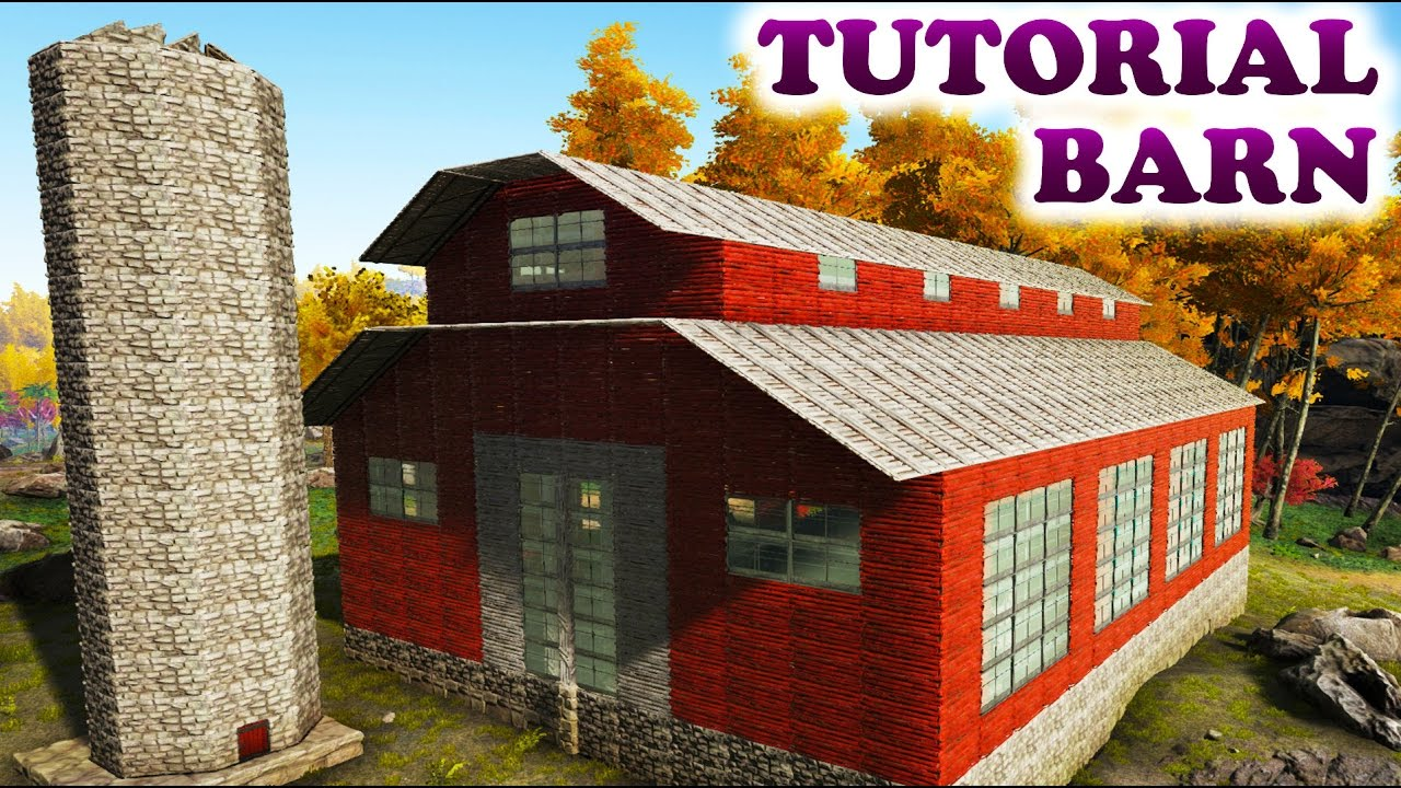 ARK AMERICAN RED BARN TUTORIAL (Building Tips and Tricks Ark ...