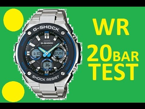 Water Resistant 20 Bar Casio G Shock Gst W100d Test At Home