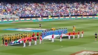 Indian national anthem at Melbourne cricket ground