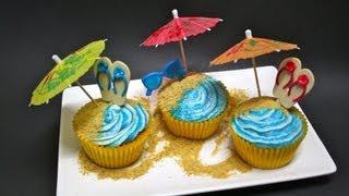 Beach Side Cupcakes Recipe  | Msdessertjunkie