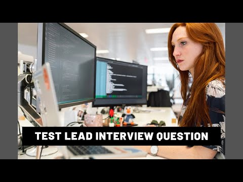 Test lead interview question - software testing interview questions