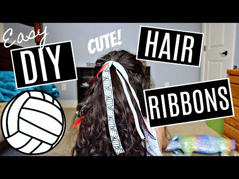 DIY Hair Ribbons for School Spirit!!