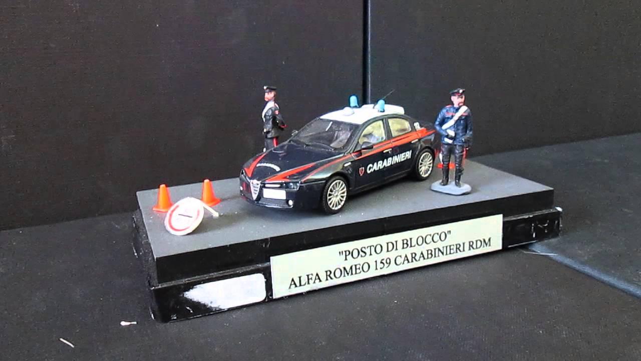 modello alfa romeo 159 carabinieri con led funzionanti