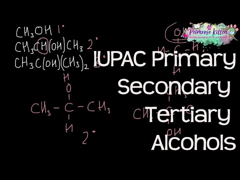 Primary, Secondary and Tertiary Alcohols using IUPAC Systematic nomenclature Organic chemistry #4