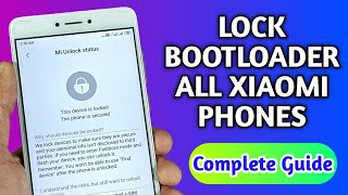 Official Method🔥To Relock BOOTLOADER ft.Redmi Note7/7 Pro...| Relock Bootloader Of Any Xiaomi Phone.