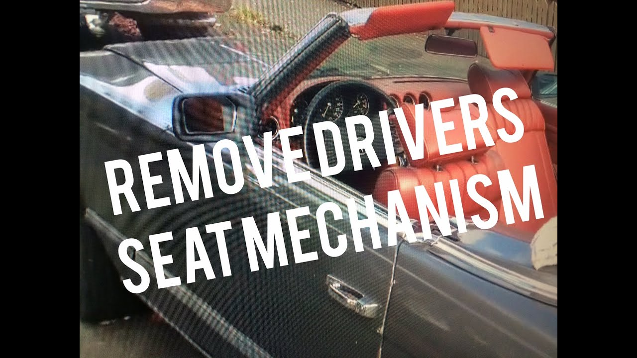 1978 Mercedes 450sl Vacuum Diagram Archive Of Automotive Wiring Gmc T8500 Remove Drivers Seat Slider Mechanism 79 Benz W107 Rh Youtube Com