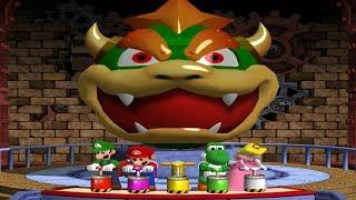 Mario Party 4 MiniGames - Mario Vs Luigi Vs Yoshi Vs Peach (Master CPU)