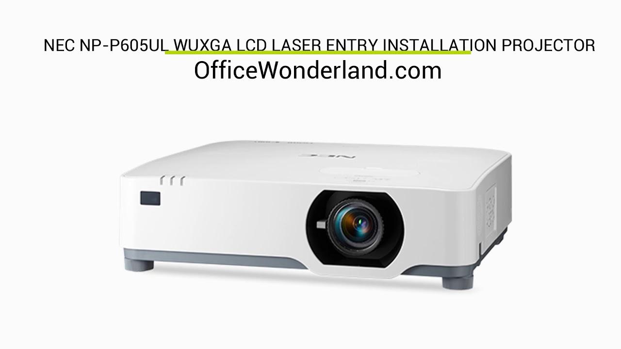 OfficeWonderland com | NEC NP-P605UL WUXGA LCD Laser Entry
