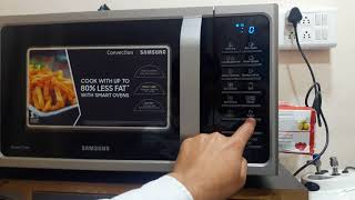 How to use Samsung 28 L Convection Microwave Oven full demo model MC28H5025VS TL, Silver