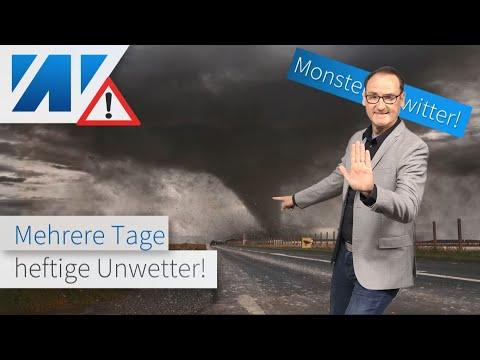 Achtung! Alarmstufe rot: Unwetter-Walze über Deutschland! Monster-Tornado! Ende der Hitzewelle?