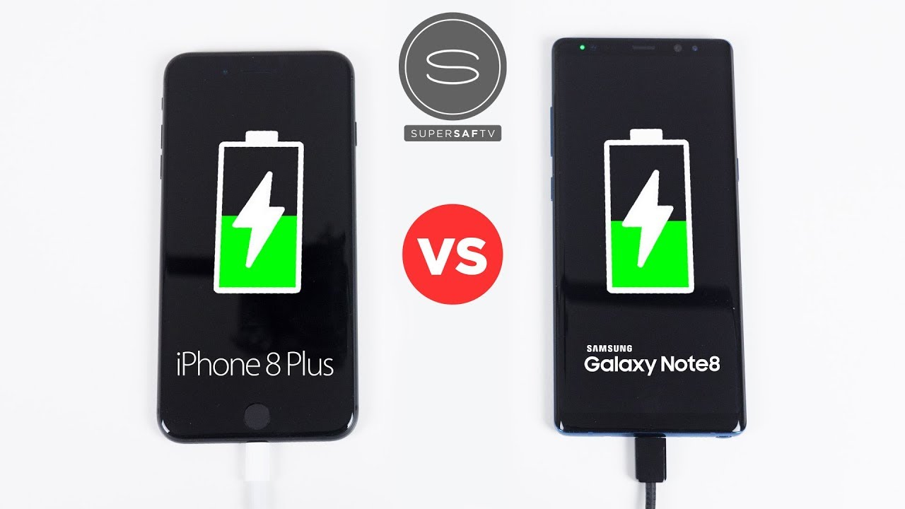 san francisco a10ba cda9a iPhone 8 Plus vs Galaxy Note 8 - Battery FAST Charging SPEED Test