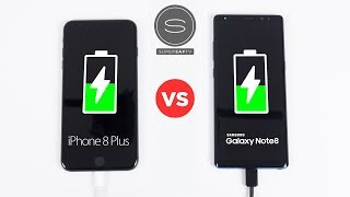 iPhone 8 Plus vs Galaxy Note 8 - Battery FAST Charging SPEED Test
