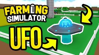 DESTROYING FIELDS WITH THE UFO in ROBLOX FARMING SIMULATOR