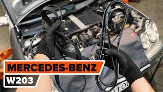 Sostituzione Braccetto sospensione posteriore e anteriore MERCEDES-BENZ C-CLASS (W203) - video istruzioni