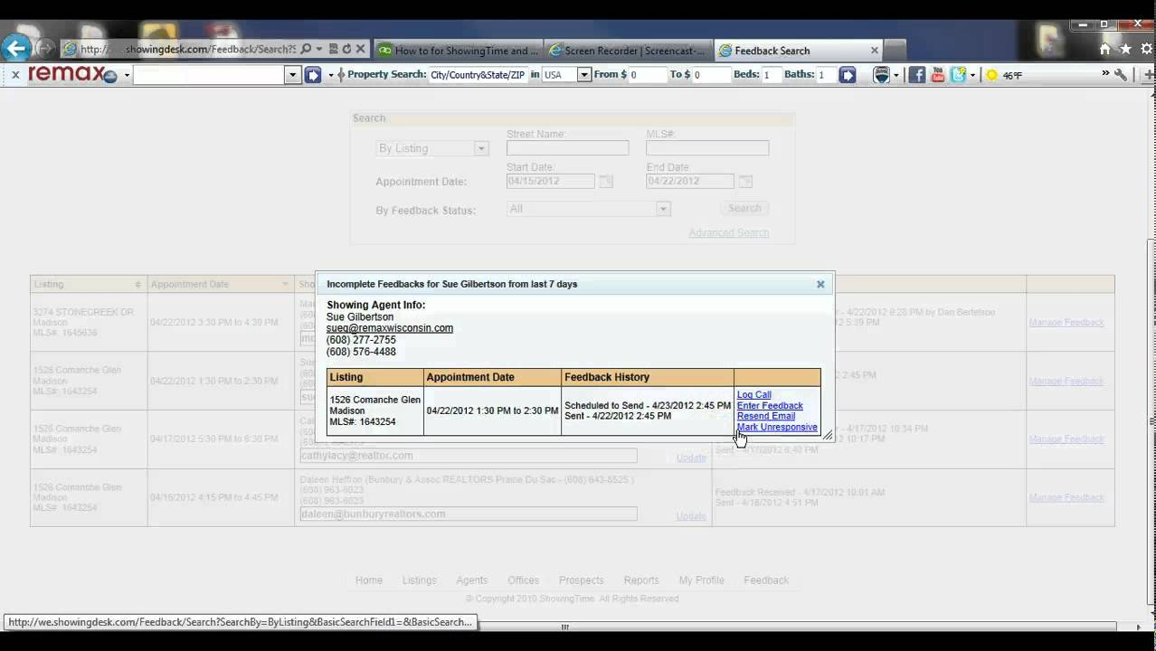 Re Max Preferred Showing Desk Intro And General Use
